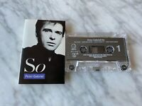 Peter Gabriel So CASSETTE Tape 1986 Geffen M5G 24088 Genesis, Phil Collins RARE!
