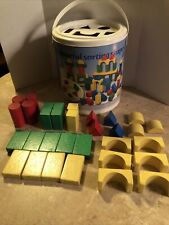Colourful Shape Sorting Wood Blocks And Plastic Container Heros Germany