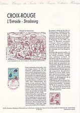 Document Philatélique Timbre 1er Jour : 28/11/ 1992 - Croix Rouge Strasbourg