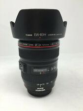 Canon Zoom Lens EF 24-105mm 1:4 L IS USM Macro 0.45m/1.5ft Ultrasonic w/ EW-83H