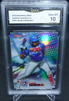 2018 Bowman's Best Vladimir Guerrero Jr. Rookie Refractor GMA Graded Gem Mint 10