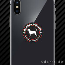 (2x) Danger Farting American Black and Tan Coonhound Cell Phone Sticker Mobile