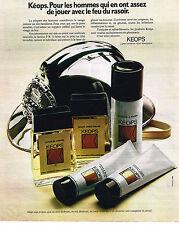 PUBLICITE ADVERTISING 024   1972   KEOPS   lotion cosmétiques homme