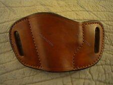 Kimber Micro Carry Belt Slide Leather Gun Holster Left Hand Tan