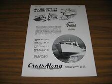 1948 Print Ad Cruis Along Cabin Cruiser Boats Davis & Son Solomons,MD