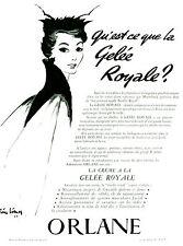 Publicité ancienne crème à la gelée royale Orlane 1954 Pierre Limon magazine