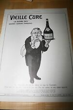 LIQUEUR VIEILLE CURE FRENCH LIQUOR AD 1913