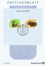 FRG 2012: Moose and Lynx! First day sheet the No.1 2913 2914! Bonn-stamps! 1702