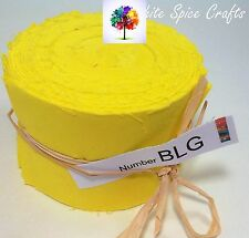 "20 pcs (2.5""x 45"")  Deep Lemon fabric Jelly Roll binding/edging BLG FREEPOST AU"