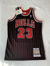 Michael Jordan Mitchell And Ness Authentic Pinstripe Jersey Size 40