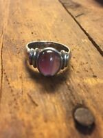 Sterling Silver Amethyst Solitaire Ring Size 6