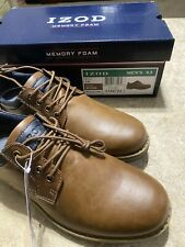 Izod Mens Shoes Memory Foam Brown Lace Up Size 9.5 Casual Sneakers For Men