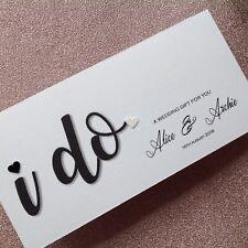 Personalised Handmade Money/Voucher/Gift Card Wallet WEDDING DAY CONGRATULATIONS