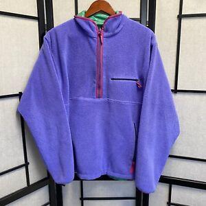 Vintage 1998 Patagonia Reversible Nylon Fleece Purple Green Glissade USA L