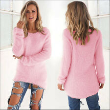Womens Blouse Warm Long Sleeve Sweater Ladies Sweatshirt Jumper Pullover Tops