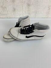 VANS Off the Wall Men's 7.5 Women's 9 Sneakers White Black Hightop Shoe Sk8 hi