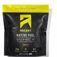 Ascent Native Fuel Whey Protein Powder Blend - 4 lbs - Chocolate