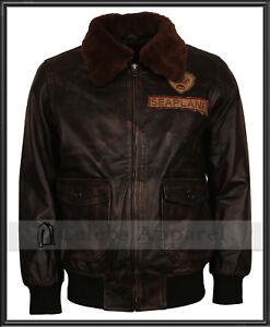 Nick Jonas Jumanji Welcome to the Jungle Mens Distressed Leather Bomber Jacket