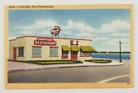 Postcard Linen Riders on the Bay Restaurant State Street Erie Pennsylvania