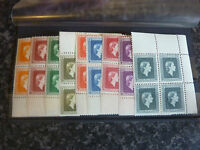 NEW ZEALAND POSTAGE STAMPS SG0159-0167 BLOCKS OF 4 MARGINALS & CORNER UMM