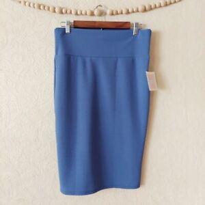 LuLaRoe blue textured Cassie pencil skirt NWT medium