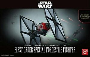 Star Wars Plastic Model Kit 1/72 FIRST ORDER SPECIAL FORCES TIE FIGHTER BANDAI**