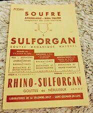 Buvard ancienne pub pour Sulforgan/souffre