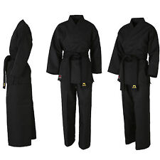 Mudoin Tae Kwon Do Wrap Uniform Black Suits Dobok Stripe Set Traditional Tkd Mma