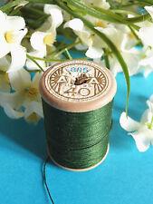 707B / Beautiful Coil Old Thread DMC Cotton Alsa N° 40 Green Chrome N°895