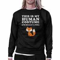 This Is My Human Costume Fox Black Sweatshirt