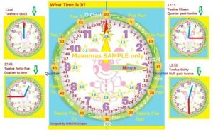 Learn To Tell Time Handmade Learning-Clock