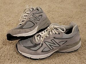 New Balance Mens 990V4 M990GL4 Gray Running Shoes - Size 7.5 D