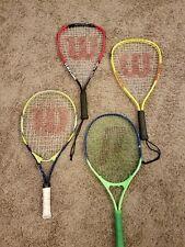 4 wilson racquetball racquet fire xt air lite alloy, hyper alloy