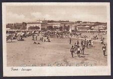 PESARO FANO 47 SPIAGGIA BAGNI Cartolina viaggiata 1939