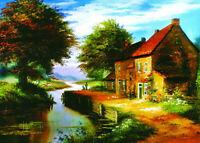 Handmade Wall Art Landscape Abstract Oil Painting on Canvas Modern Decor AFJ043