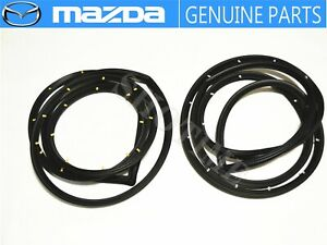 MAZDA GENUINE OEM RX-7 FC3S Right & Left Side Door Weatherstrip Seal