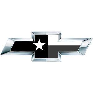 BW Silverado Texas State Flag Universal Chevy Bowtie Vinyl Sheets Emblem Overlay