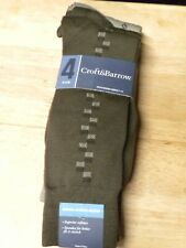 4 PAIRS MEN'S BROWN CROFT AND BARROW SOCKS   FITS SHOE SIZE 7-12  NEW WITH TAGS