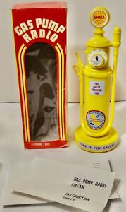 Vintage 1985 Shell Gas Pump Radio Collectible - New in Box - Synanon