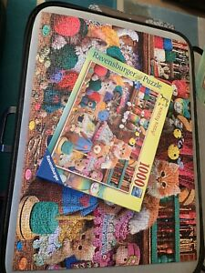 Ravensburger, 1000 Jigsaw Puzzle, Knitty Kitty!, Steve Read. Complete.
