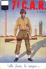 C4290) SIENA, 7 CAR, CENTRO ADDESTRAMENTO RECLUTE. VIAGGIATA NEL 1955.