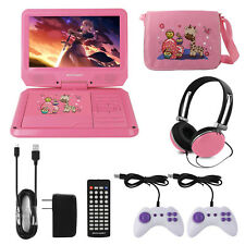 "9"" Portable DVD Player Swivel Screen CD TV VCD Video USB/SD Card for Car Kids"