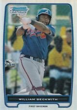 ATLANTA BRAVES WILLIAM BECKWITH 2012 BOWMAN CHROME ROOKIE REFRACTOR #BCP154 RC