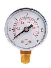 Bassa pressione calibro per OLIO COMBUSTIBILE ARIA O ACQUA 50 mm 0/15 PSI 0/1 BAR 1/4 BSPT un