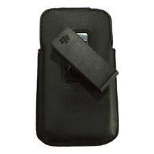 Leather Swivel Holster Pouch Sleeve Case fr Blackberry Classic Q20 BB Q-20 Black