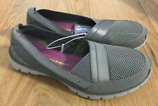 SKECHERS Women's Gray Shoes Size 10 US Memory Foam Contour Slide On NEW