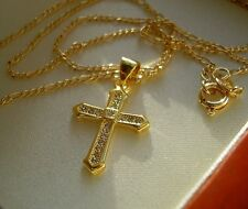 STAMPED 9ct GOLD CROSS CHAIN GF CRAZY PRICE! OVER 700 SOLD ref 61