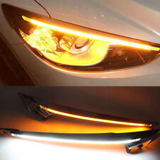 2x LED Daytime Running Light Headlight Eyebrow Trim DRL for Mazda CX-5 2015-2016