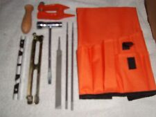 9 Pc-3/16 Chain Saw Sharpening Kit 3 files-Stump Vice-2 guides-wrench-handle