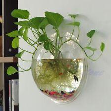 Bubble Bowl Plant Fish Tank Aquarium Pot Home Decoration  UK Wall Mounted Fish T